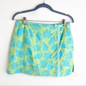 Lilly Pulitzer Blue & Green Seashell Mini Skirt